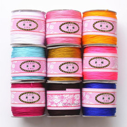 Wholesale String Beading Macrame - 1 Roll=100 Meters 0.8mm Nylon Cord Chinese Knot Rattail Beading Thread Shamballa Bracelet Macrame String Jewelry Making DIY