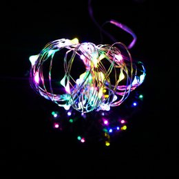 Wholesale Used Outdoor Christmas Decorations - Copper Led String Lights 3M 30Led Battery operater waterproof Outdoor use decoration light fun life high quality 8 colrs LH