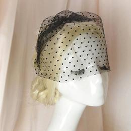 Wholesale Dot Tulle Veil - Real Photos Vintage Birdcage Veils For Bride 2018 Cheap Black White Ivory Dot Tulle Face Wedding Veils High Quality EN11162