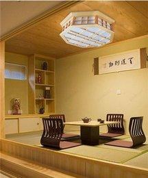 Wholesale Tatami Wood - Japanese Style Indoor Lighting Ceiling Lights Washitsu Tatami Decor Shoji Lamp Wood and Paper Restaurant Living Room Hallway