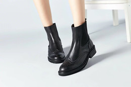 Wholesale Leather Ladies Riding Boots - new woman ladies shoes zapatos mujer chaussure ankle boots bota Riding Boots Casual Ladies Martin Boots