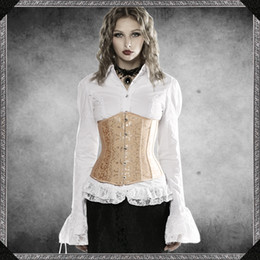 Wholesale Gothic Clothing Wholesale - Wholesale- Court Corset tight lacing gothic clothing steel boned corset minceur slimming belt waist cincher shapewear fajas body
