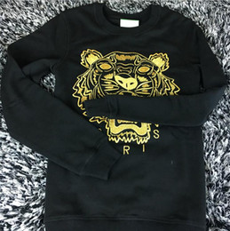 Wholesale T Hoodies - Free Shipping 2018 Winter Fashion Hot Men's T-shirt Embroidered Sweatshirt Fashion Brand Sweatshirt Hoodie KEN Hoodies & Sweatshirts