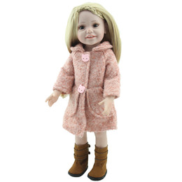 Wholesale Making Reborn Baby Dolls - New Arrival 18inch Reborn American Girl Doll Realistic Baby Toys Made From Full Vinyl Silicone With Beautiful Clothes And Shoes