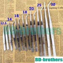 Wholesale Forceps Tweezers - Cheapest Aquarium Stainless Steel Tweezers Medical Nipper 12.5cm 14cm 16cm 18cm 20cm 25cm 30cm Straight Curved Head Forceps 100pcs