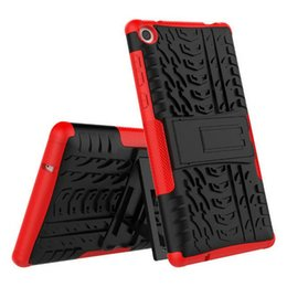 Wholesale Lenovo Tablet Skin - 2in1 Hybrid TPU PC Robot Case Cover with Stand Holder for Lenovo TAB3 7.0 inch Dazzle Armor case