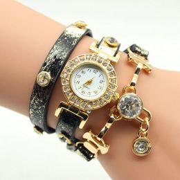 Wholesale Snake Watches Rhinestones - New Fashion Snake Grain Bracelet Women Watch Women Wristwatch Ladies Quartz Watch Rhinestone Watches Party Dress Watches
