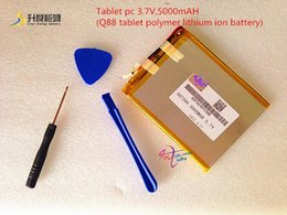 Wholesale Tablet Pc Lithium Ion Battery - Tablet pc 3.7V 5000mAH (Q88 tablet polymer lithium ion battery) Rechargeable battery for tablet pc 7 inch 8 inch 9inch 367596
