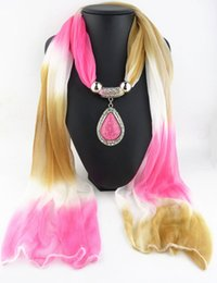 Wholesale Gradient Necklace - Latest Cheap Fashion Ladies Scarf Direct Factory Drop Jewelry Scarves Women Necklace Gradient Chiffon Scarves From China Factory