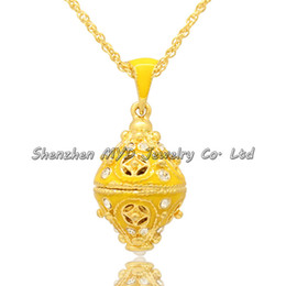 Wholesale Russian Gold Chains - Fashion jewelry hand enameled Russian style crystal cross Faberge egg design pendant woman necklace with chain