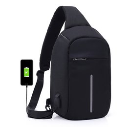 Wholesale External Air - Anti-theft Sling Shoulder Bag with External USB Charge Crossbody Chest Bags Backpack for Cycling Hiking Outdoor Travel Men Women Casual