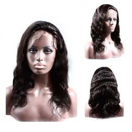 Wholesale Indian Remy Wavy Sale - Hot sale glueless lace front wig human hair 130 density brazilian virgin hair wavy lace front wigs for black women