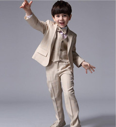 Wholesale Boys Clothing Occasion - Fashion high quality customized boy suit boy clothing tailored suit dress wedding dress formal occasions three-piece suit