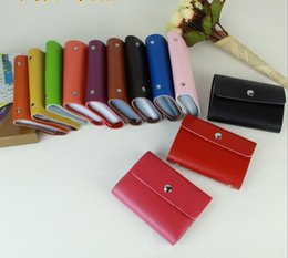 Wholesale Manufacturers Women Men Genuine Leather Card Pack Contacts Leather bank card holder Retro Bags