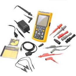 Wholesale Oscilloscope Scopemeter - FLUKE 123 S Industrial ScopeMeter Oscilloscope Kit with Software (FLUKE-123 007S) Portable industrial universal oscilloscope fluke