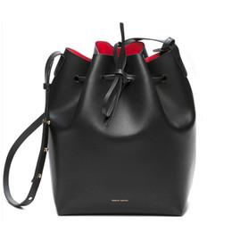 Wholesale Lady Cross Bag - Newest Mansur Gavriel bucket bag women genuine leather hand bag lady real leathe shoulder bag cross bag,free shipping
