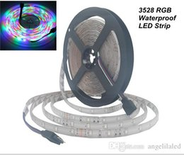 Wholesale Water Proof Rgb Led Strips - RGB 12V 5M 3528SMD Led Light Strips Water Proof 300 SMD LED Stripes Lighting Flexible LED Tape Light Decor LED Rope Light