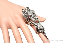 Wholesale Gothic Vampire Vintage - 2015 New Arrival Gift Vintage Punk Rock Gothic Dragon Men Ring Movie Jewelry Male Ring Accessories Vampire rings