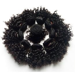 curly weave estilos cabelo indiano Desconto Linda virgem brasileira Do Cabelo humano trama dupla Curto bob Estilo 8-12 polegada Kinky cabelo crespo tece extensões de cabelo remy Indiano Europeu