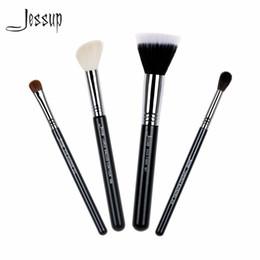 Wholesale Duo Fibre - 2017 Jessup Brushes High Quality Makeup Brush Set Foundation Blend Duo Fibre Contour Eye Shadow Powder Make Up Tools Kits T123