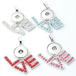 Wholesale Vocheng Pendant - Latest 4 LOVE Snap Buttons Interchangeable VOCHENG NOOSA Trendy Jewelry Ginger Pendants Fit 18MM Snap Necklace E554E