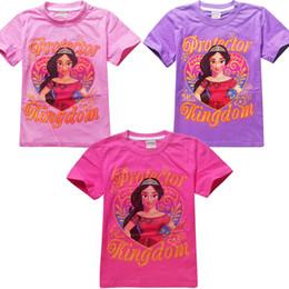 Wholesale England Tshirt - For 4-12 years Elena of Avalor big girls short sleeve T-shirt girls summer clothing kids cartoon top tees tshirt