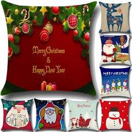cuscini di tiro superman Sconti Home Decor Babbo Natale Cervo Buon Natale stampato divano letto Decorazione della casa Festival Lino miscela cuscino fodere per cuscino