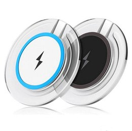 Wholesale qi wireless charger receiver iphone - Crystal Wireless Charger Portable Qi Charging Pad Receiver For Samsung S6 edge S7 Edge S8 Plus iphone 8 X With Retail Package