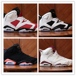 Wholesale White Lycra Sale - 2016 new high quality air retro 6 VI men Basketball shoes Angry bull Carmine Infrared Oreo White Black sport 6s Olympic Sale sneakers