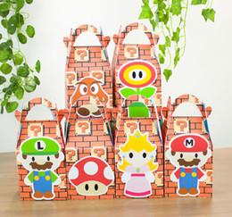 Wholesale Mario Favor Boxes - Mario Bros Favor Box Candy Box Gift Box Cupcake Box Boy Kids Birthday Party Supplies Decoration Event Party Supplies