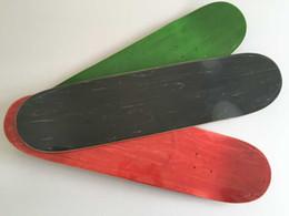 Wholesale Skateboard Blanks - Wholesale-2016 Wholesale 2pcs lot Blank Colored Skateboard Deck Canadian Maple Skate Decks Red Green & Black Colors Available