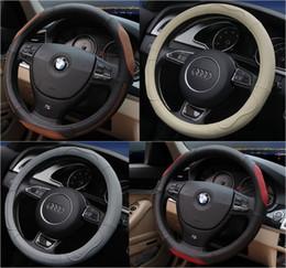 2019 velhas rodas de direção do carro 2016 Moda Couro Do Carro Cobertura de Volante Volante Tampas Para Toyota / Nissan / Chevrolet ect Car Styling