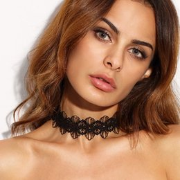 Wholesale Rose Lace Choker - The new lady in Europe and the exaggerated lace necklace Ms manufacturers selling black necklace