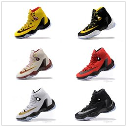 Wholesale Recreational Sports - 2017 New Arrival Men Yellow Black Red Recreational Basketball Shoes Outdoor Top Quality Casual Sports Sneakers Free Shipping Size 40-46