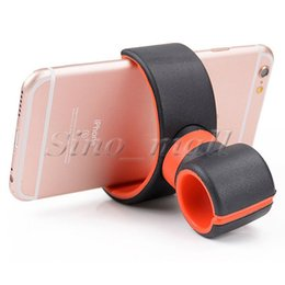 Wholesale Double Bicycle Light - 360 Degree Universal Air Vent Mount For Iphone 6plus Samsung S7 Bicycle Holder Double C Light Holder With Retail Box 100pcs Free DHL