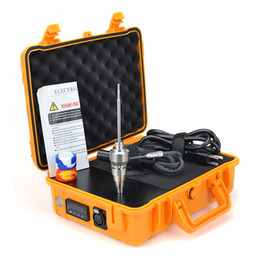 Wholesale Fancier Case - Pelic case E dab nail 110v 220v 10mm 16mm 20mm titanium nail heating coil dab nail free shipping DHL Fancier