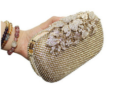 Wholesale New Style Side Bags - bolsa feminina New Both Side Diamond Flower Crystal Evening Bag Clutch Bags Upscale Styling Day Clutches Lady Wedding Purse 8029