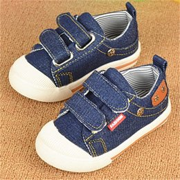 Wholesale Boys Denim Shoes - 2016 New Arrival Kids Sneakers Boys Shoes Breathable Denim Children Canvas Shoes 1-3 Years Old (13.5cm-15.5cm)Baby Shoes