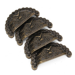Wholesale Wholesale Medicine Cabinets - Small size 48*23MM Vintage Dragon head Medicine cabinet Drawer knobs Antique Furniture handles Pull handles Metal knob