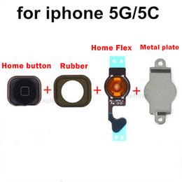 Главная кнопка Меню Key Cap Flex кабель кронштейн держатель набор Ассамблеи для iPhone 5 5G 5C черный белый запасные части от Поставщики установить скобки