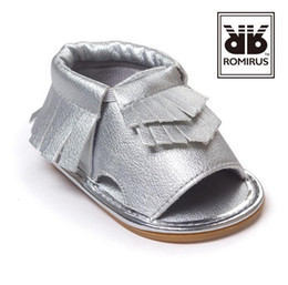 Wholesale Toddler Boys Leather White Sandals - European toddler shoes baby moccasins kids moccs baby shoes kids sandals fringe boy shoes girls shoes 2016 new designed moccs