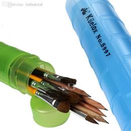 Wholesale Wholesale Oil Painting Brushes - Wholesale-Flexible Brush Pot Pen Holder Gouache Brush Pot Paint Can Put Gouache Water Color Brush Oil Pen Art School Supplies