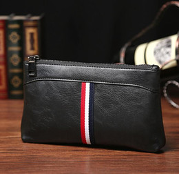 Wholesale Bag Hand Black - The factory direct selling brand bag Korean fashion color leather men hand bag casual mens sportswear men's wallet hand bag