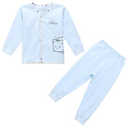 Wholesale Newborn Long Johns - Wholesale-The fall of newborn baby underwear underwear baby clothes and newborn cotton backing long johns suit