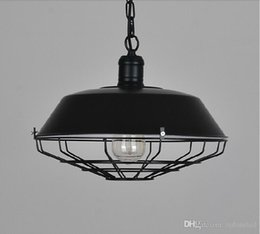 Wholesale Painted Toms - loft American industrial pendant lighting vintage lighting for dining room iron black rust painted E27 Edison bulb home lamp