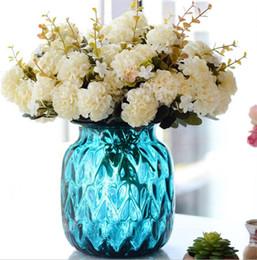 """Canada Bouquet de fleurs de soie chrysanthème boule (10 têtes / pièce) 31cm / 12.2 """"longueur fleurs artificielles marguerite pour mariage bouquet de mariée bricolage Offre"""
