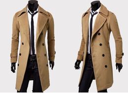 Männer graben 3xl online-Mens Designer Bekleidung Trenchcoats Kostenloser Versand Winter Fashion Einreiher Cashmere Jacke Mäntel Männer Mantel Casacos