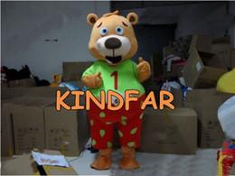 465a6c82dd All'ingrosso-Cute orso costume della mascotte del vestito operato dal EPE  adulta del personaggio dei cartoni animati del partito del vestito libera  la nave ...