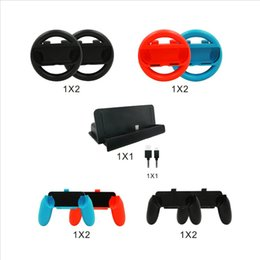 Wholesale Game Steering - 10 In 1 Steering Wheel Charging Dock Cable Controle Grip For Nintend Switch Game Remote Controlle For NS Controller