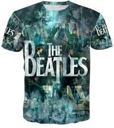 Wholesale Designer Men S T Shirt - 2016 New year gift harajuku designers outwear tops t shirts the beatles print 3d t shirt men T-shirt cool hip hop shirts summer short sleeve
